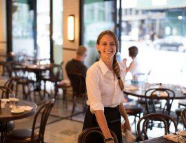 Smiling staff member